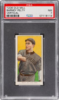 Baseball Cards:Singles (Pre-1930), 1909-11 T206 Old Mill Barney Pelty (Vertical) PSA NM 7 - Pop One, None Higher for Brand. ...