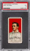 Baseball Cards:Singles (Pre-1930), 1909-11 T206 Sweet Caporal 350/25 Phil Poland PSA EX 5 - Pop One, Two Higher for Brand. ...