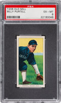 Baseball Cards:Singles (Pre-1930), 1909-11 T206 Old Mill Billy Purtell PSA EX-MT 6 - Pop One, None Higher for Brand. ...