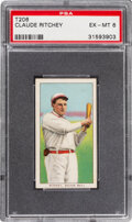 Baseball Cards:Singles (Pre-1930), 1909-11 T206 Sweet Caporal 150/25 Claude Ritchey PSA EX-MT 6. ...