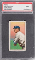 Baseball Cards:Singles (Pre-1930), 1909-11 T206 Sweet Caporal 350/30 Nap Rucker (Throwing) PSA NM 7 - Pop One, Only Two Higher for Brand/Series/Factory. ...
