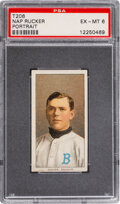 Baseball Cards:Singles (Pre-1930), 1909-11 T206 Piedmont 350 Nap Rucker (Portrait) PSA EX-MT 6 - Pop One, Only One Higher for Brand/Series. ...