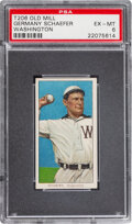 Baseball Cards:Singles (Pre-1930), 1909-11 T206 Old Mill Germany Schaefer (Washington) PSA EX-MT 6 - Pop Four, Only One Higher for Brand. ...