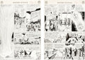 Original Comic Art:Story Page, Murphy Anderson Mystery in Space #90 Story Pages 14 & 15 Original Art (DC, 1964). ... (Total: 2 Original Art)