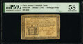 Colonial Notes:New Jersey, New Jersey January 9, 1781 1s 6d PMG Choice About Unc 58.. ...