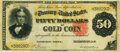 Large Size:Gold Certificates, Fr. 1196 $50 1882 Gold Certificate PMG Very Fine 30.. ...