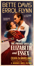 """Movie Posters:Swashbuckler, The Private Lives of Elizabeth and Essex (Warner Bros., 1939). Very Fine- on Linen. Three Sheet (41.5"""" X 79"""").. ..."""