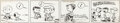 Animation Art:Production Drawing, Charles Schulz Peanuts Daily Comic Strip Original Art dated 10/9/51 (United Feature Syndicate, 1951)....