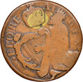 (1670-75) 1/2 P St. Patrick Halfpenny, W-11540, Vlack-3-C, VG8 NGC. Ex: Donald G. Partrick Collection. NGC Census: (0/0)...