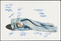 """Autographs:Others, New York Yankees Legends Multi-Signed """"Afterthought"""" Print...."""