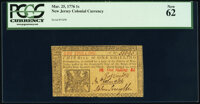 New Jersey March 25, 1776 1s PCGS New 62