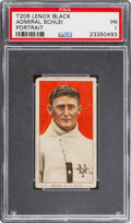 Baseball Cards:Singles (Pre-1930), 1909-11 T206 Lenox - Black Admiral Schlei (Portrait) PSA Poor 1 - Only Four Confirmed PSA-Graded Examples. ...