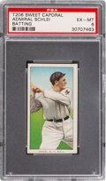 Baseball Cards:Singles (Pre-1930), 1909-11 T206 Sweet Caporal 350-460/42OP Admiral Schlei (Batting) PSA EX-MT 6 - Pop One, Two Higher for Brand. ...