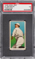 Baseball Cards:Singles (Pre-1930), 1909-11 T206 Hindu-Red Cy Seymour (Throwing) PSA VG 3 - Only Two Confirmed PSA-Graded Examples. ...