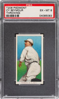Baseball Cards:Singles (Pre-1930), 1909-11 T206 Piedmont 350 Cy Seymour (Throwing) PSA EX-MT 6 - Pop One, None Higher for Brand/Series. ...