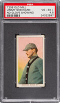 Baseball Cards:Singles (Pre-1930), 1909-11 T206 Old Mill Jimmy Sheckard (No Glove Showing) PSA VG-EX+ 4.5 - Pop One, Two Higher for Brand. ...