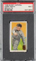 Baseball Cards:Singles (Pre-1930), 1909-11 T206 Sweet Caporal 350-460/30 Happy Smith (Brooklyn) PSA NM 7 - Pop One, Two Higher for Brand/Series/Factory. ...