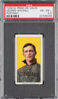 Baseball Cards:Singles (Pre-1930), 1909-11 T206 El Principe De Gales George Stovall (Portrait) PSA VG-EX+ 4.5 - Pop One, One Higher for Brand. ...