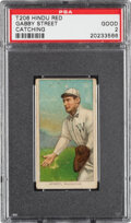 Baseball Cards:Singles (Pre-1930), 1909-11 T206 Hindu-Red Gabby Street (Catching) PSA Good 2 - The Only PSA-Graded Example! ...