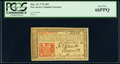 Colonial Notes:New Jersey, New Jersey March 25, 1776 18d PCGS Gem New 66PPQ.. ...