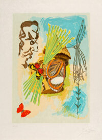 Salvador Dali (1904-1989) The Overseer, from Ivanhoe, 1978 Lithograph in colors on Japon