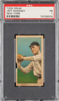 Baseball Cards:Singles (Pre-1930), 1909-11 T206 Drum Jeff Sweeney (New York, Fielding) PSA Poor 1 - Only Three PSA-Graded Examples! ...
