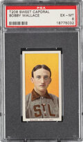 Baseball Cards:Singles (Pre-1930), 1909-11 T206 Sweet Caporal 150/30 Bobby Wallace PSA EX-MT 6 - Pop Three, Three Higher for Brand/Series/Factory. ...