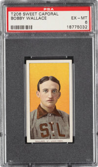 1909-11 T206 Sweet Caporal 150/30 Bobby Wallace PSA EX-MT 6 - Pop Three, Three Higher for Brand/Series/Factory