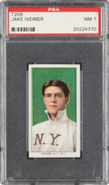 Baseball Cards:Singles (Pre-1930), 1909-11 T206 Old Mill Jake Weimer PSA NM 7 - Pop One, None Higher for Brand. ...