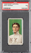 Baseball Cards:Singles (Pre-1930), 1909-11 T206 Sweet Caporal 350/30 Jake Weimer PSA NM 7 - Pop One, Only One Higher for Brand/Series/Factory. ...
