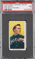 Baseball Cards:Singles (Pre-1930), 1909-11 T206 Sweet Caporal 350/30 Doc White (Chicago, Pitching) PSA NM 7. ...