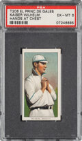 Baseball Cards:Singles (Pre-1930), 1909-11 T206 El Principe De Gales Kaiser Wilhelm (Hands At Chest) PSA EX-MT 6 - Pop Two, None Higher for Brand. ...