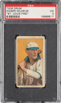 Baseball Cards:Singles (Pre-1930), 1909-11 T206 Drum Kaiser Wilhelm (With Bat) PSA VG 3 - Only Two Confirmed PSA-Graded Examples!...