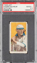 Baseball Cards:Singles (Pre-1930), 1909-11 T206 Uzit Kaiser Wilhelm (With Bat) PSA Good+ 2.5 - The Finest of Only Two Confirmed Examples! ...