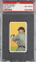 Baseball Cards:Singles (Pre-1930), 1909-11 T206 Old Mill Ed Willett (sic Willetts-Pitching) PSA EX-MT 6 - Pop Two, None Higher for Brand. ...