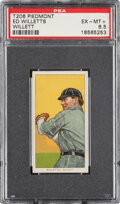 Baseball Cards:Singles (Pre-1930), 1909-11 T206 Piedmont 350-460/42 Ed Willett (sic Willetts-Pitching) PSA EX-MT+ 6.5 - Only Five Confirmed Factory 42 Backs. ...