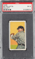 Baseball Cards:Singles (Pre-1930), 1909-11 T206 Tolstoi Ed Willett (sic Willetts-Pitching) PSA EX 5 - Pop One, None Higher for Brand. ...