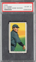 Baseball Cards:Singles (Pre-1930), 1909-11 T206 Sweet Caporal 350/30 Cy Young (Bare Hand Shows) PSA EX-MT 6 - Pop One, None Higher for Brand/Series/Factory. ...