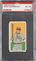 Baseball Cards:Singles (Pre-1930), 1909-11 T206 Old Mill Heinie Zimmerman PSA EX-MT 6 - Pop Two, Only One Higher for Brand. ...