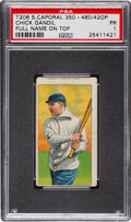 Baseball Cards:Singles (Pre-1930), 1909-11 T206 Sweet Caporal - 350-460/42OP Chick Gandil PSA Poor 1 - Rare Name at Top Miscut. ...
