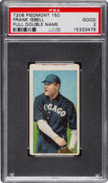 Baseball Cards:Singles (Pre-1930), 1909-11 T206 Piedmont 150 Frank Isbell PSA Good 2 - Rare Name at Top & Bottom Miscut. ...