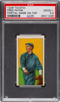 Baseball Cards:Singles (Pre-1930), 1909-11 T206 Tolstoi Fred Payne PSA Good+ 2.5 - Rare Name at Top Miscut. ...