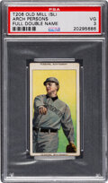 Baseball Cards:Singles (Pre-1930), 1909-11 T206 Old Mill Arch Persons PSA VG 3 - Rare Full Name at Top & Bottom. ...