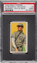 Baseball Cards:Singles (Pre-1930), 1909-11 T206 Sweet Caporal 350-460/25 Ed Reulbach (No Glove Showing) PSA VG 3 - Misprinted Multi-Ad Back. ...