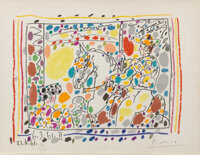 Pablo Picasso (1881-1973) Le Picador II, from A los Toros avec Picasso, 1961 Lithograph in colors on paper 9-1/2