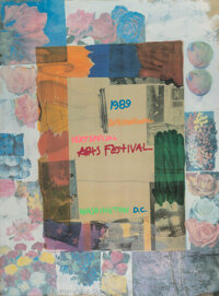 Robert Rauschenberg (1925-2008) International Very Special Arts Festival, 1989 Lithograph in colors on wove paper 35-