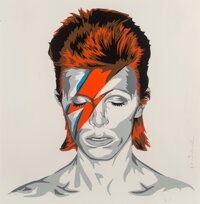 Mr. Brainwash (b. 1966) Bowie, 2016 Serigraph in colors on paper 22-1/2 x 22-1/2 inches (57.2 x 57.2 cm) (sheet) Ed