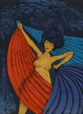 Prints & Multiples, Rufino Tamayo (1899-1991). Salome, 1983. Lithograph in colors on Somerset paper. 30 x 21-3/4 inches (76.2 x 55.2 cm) (sh...