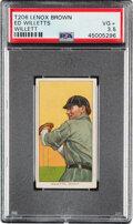 Baseball Cards:Singles (Pre-1930), 1909-11 T206 Lenox-Brown Ed Willett (sic Willetts-Pitching) PSA VG+ 3.5 - Only Three PSA-Graded Examples! ...