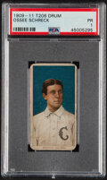 Baseball Cards:Singles (Pre-1930), 1909-11 T206 Drum Ossee Schreckengost PSA Poor 1 - The Only PSA-Graded Example! ...